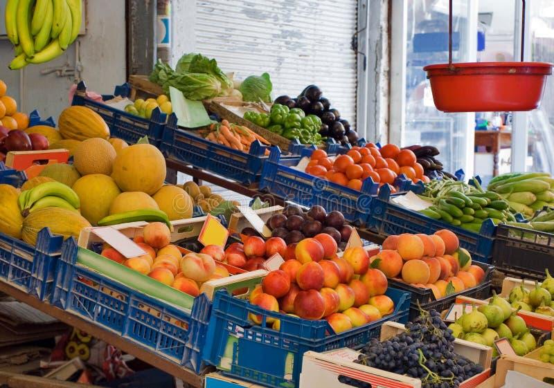 Frutta e servizio della verdura fotografia stock libera da diritti