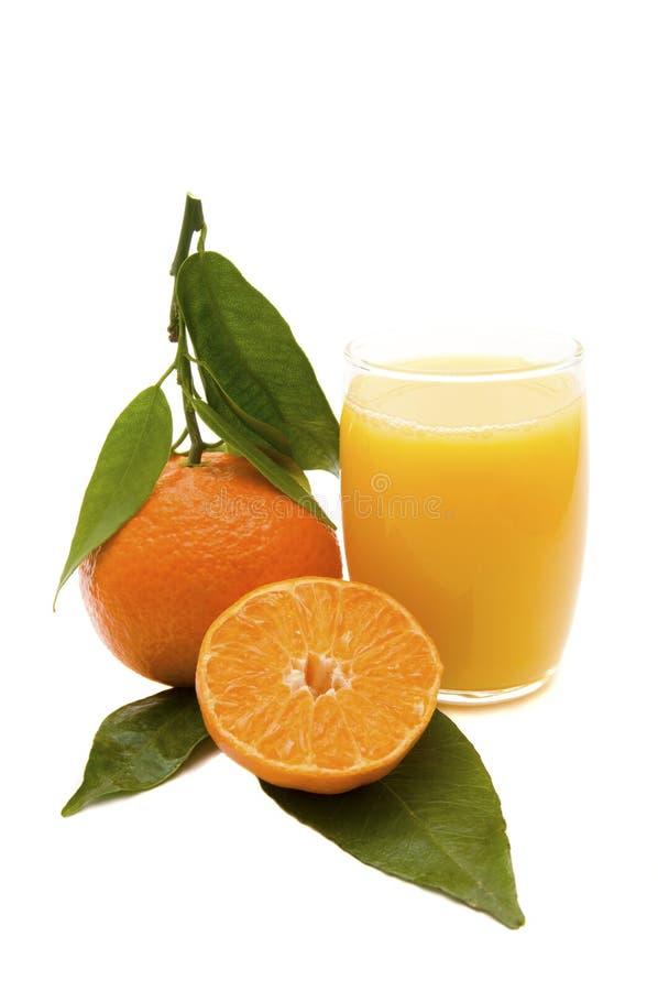 Frutta e spremuta arancioni fotografia stock libera da diritti