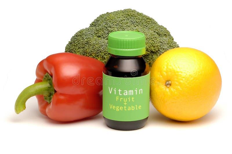 Frutta e verdura della vitamina immagine stock