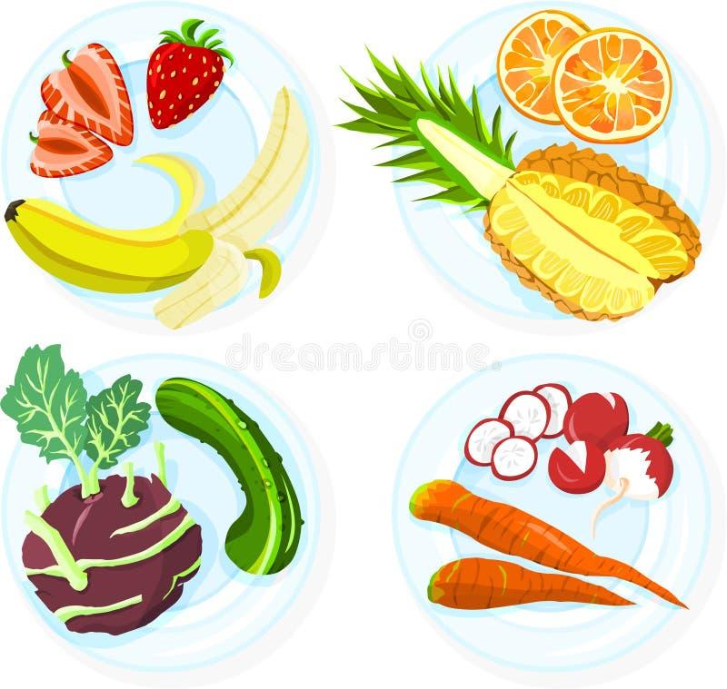 Frutta e verdure royalty illustrazione gratis