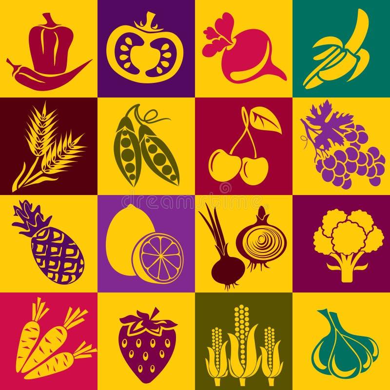 Frutta e verdure illustrazione vettoriale