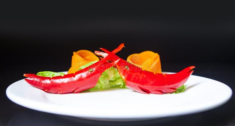 Frutta e verdure sotto forma di gamberetto maschio fotografia stock libera da diritti