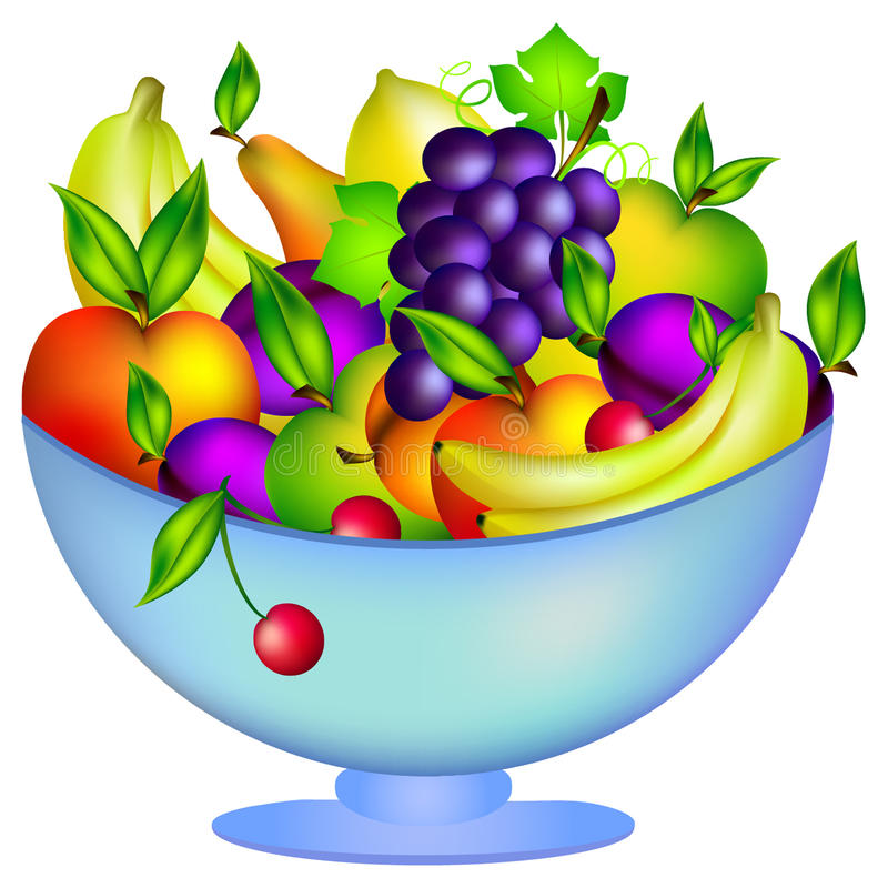 Frutta fresca in una ciotola royalty illustrazione gratis