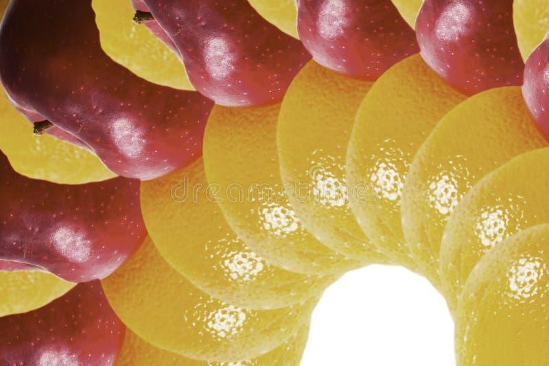 Frutta isolata immagini stock