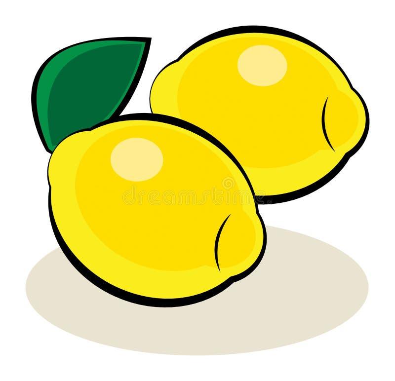 Frutta, limone illustrazione vettoriale