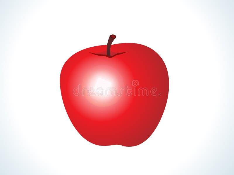 Frutta lucida rossa della mela illustrazione di stock