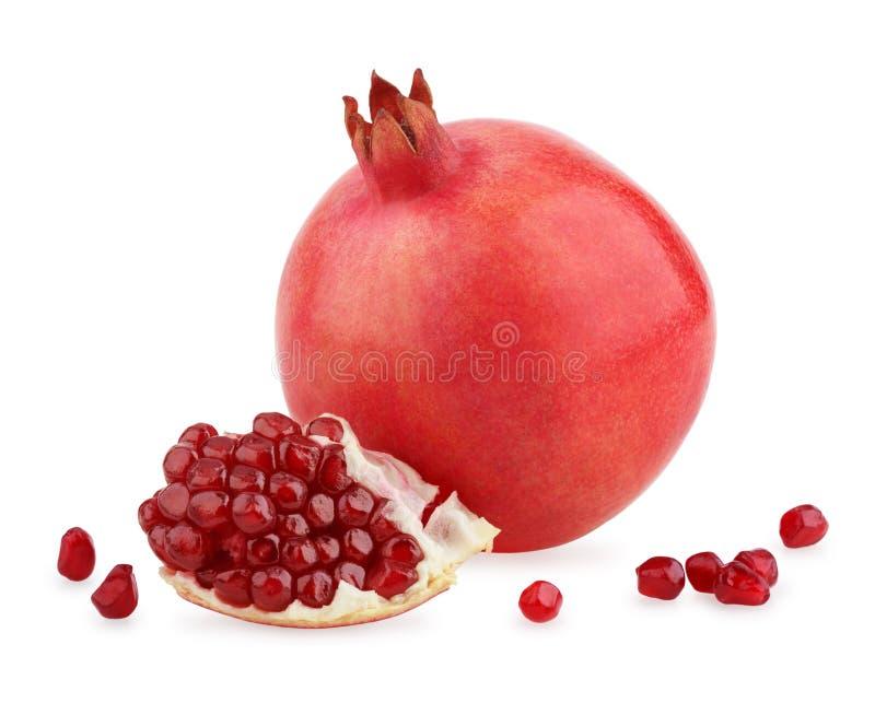Frutta matura del melograno con i semi fotografia stock