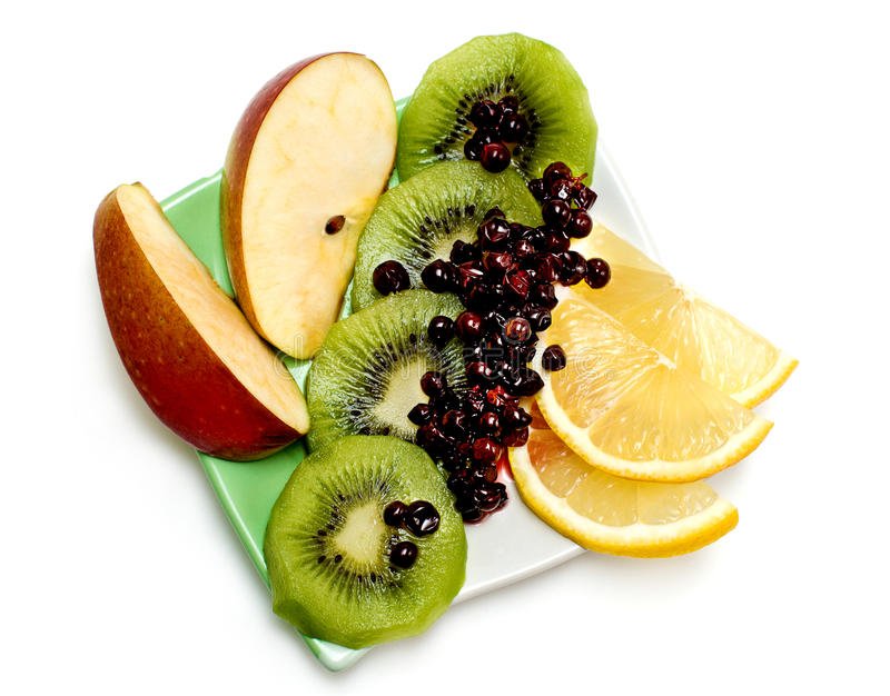 Frutta matura su un plate_02 fotografia stock