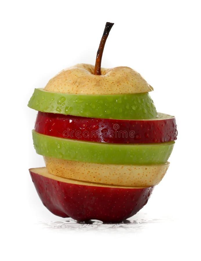 Frutta Mixed, isolata su bianco fotografia stock libera da diritti
