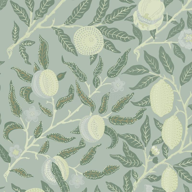 Frutta o melograno da William Morris 1834-1896 Originale dal museo INCONTRATO Digital migliorata da rawpixel royalty illustrazione gratis