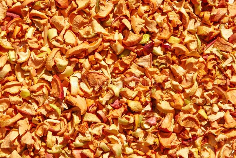 Frutta organica seccata al sole sana fotografia stock