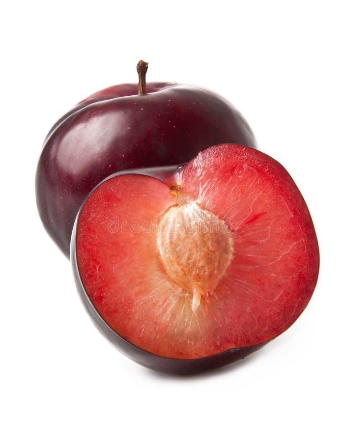 Frutta rossa della prugna immagini stock libere da diritti