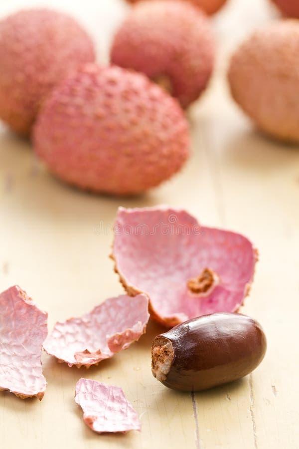 Frutta saporita del litchi fotografia stock libera da diritti