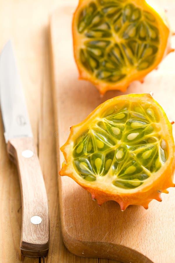 Frutta saporita di kiwano immagine stock