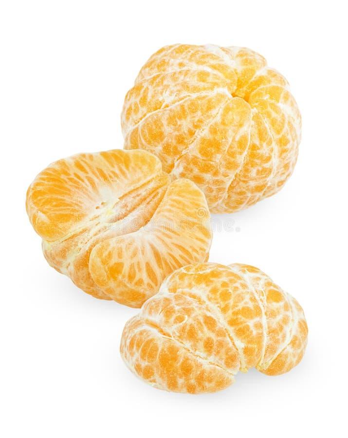 Frutta sbucciata del mandarino fotografia stock
