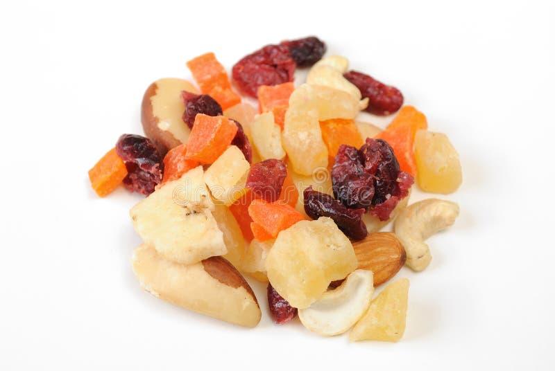 Frutta secca e noci Mixed fotografia stock libera da diritti