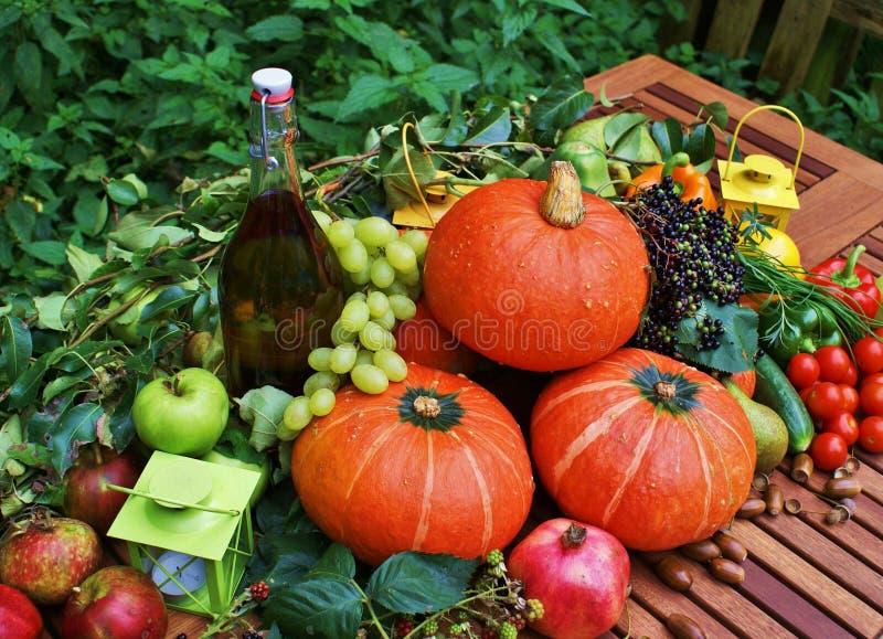 Frutta, verdure ed erbe immagine stock
