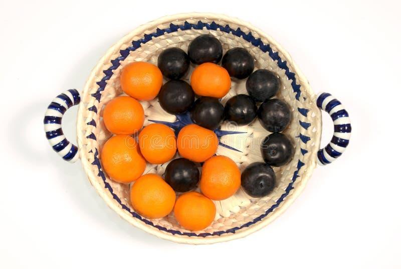 Frutta, vitamine, equilibrio, yin & yan fotografia stock libera da diritti