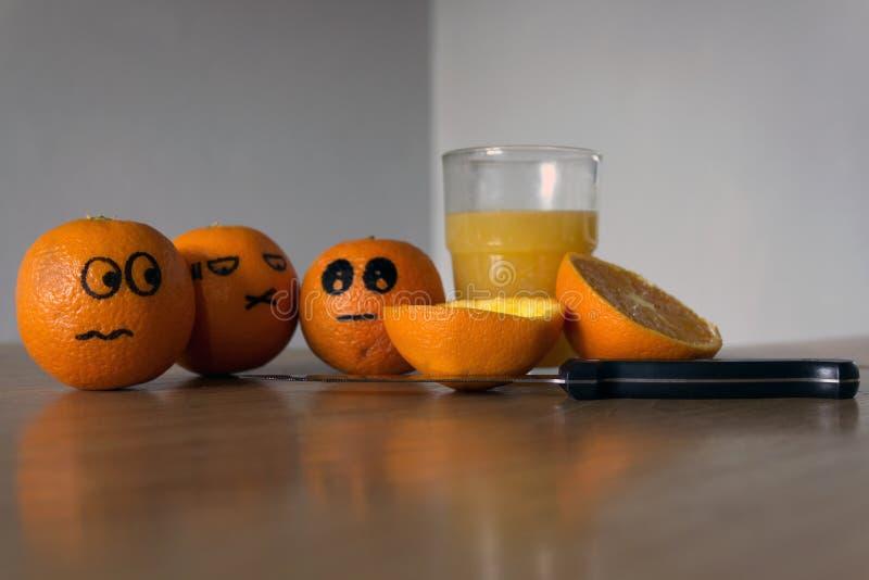 Frutti arancio comici immagini stock libere da diritti