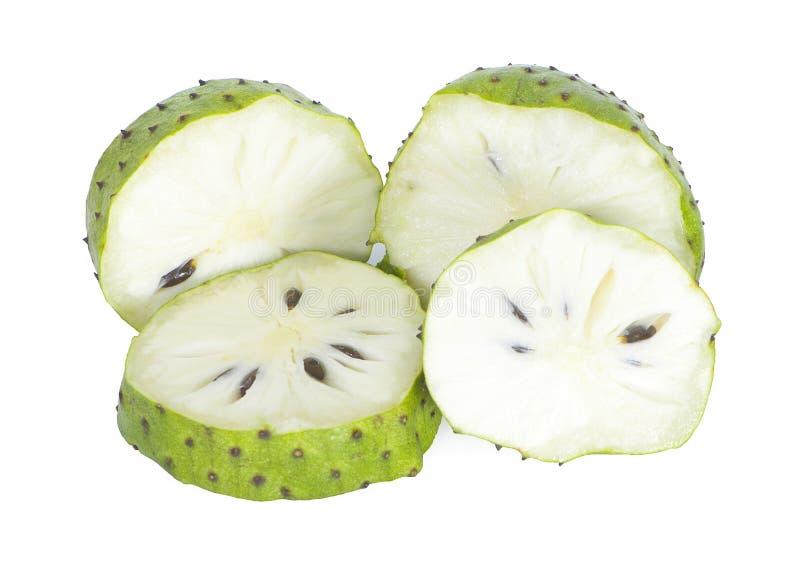 Frutti dell'anona isolati su fondo bianco fotografie stock