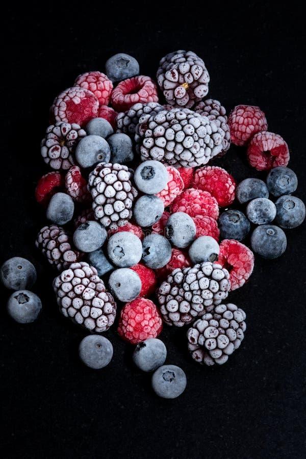 Frutti della foresta congelati fotografia stock libera da diritti