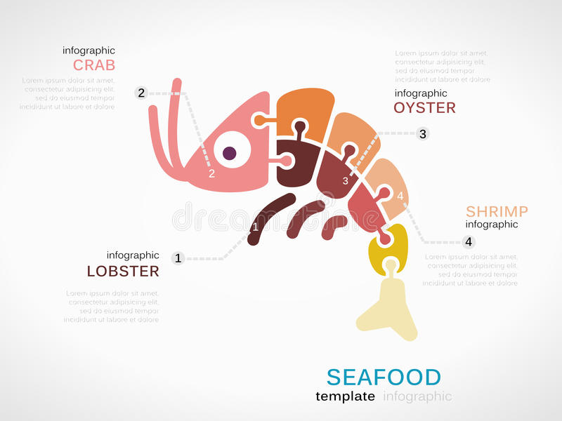 Frutti di mare illustrazione vettoriale