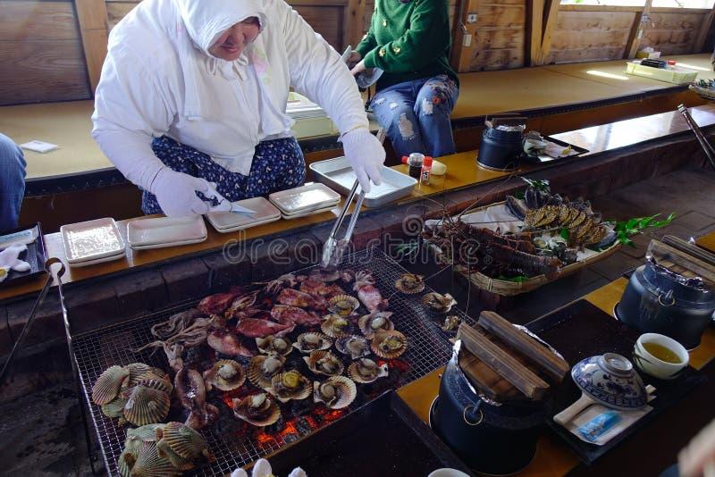 Frutti di mare al ristorante tradizionale immagini stock
