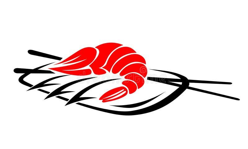 Frutti di mare del gambero illustrazione vettoriale