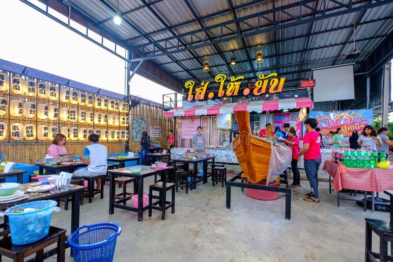 Frutti di mare nessun buffet di limite al colpo Saen, Chon Buri fotografia stock libera da diritti