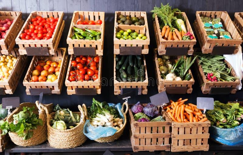 Frutti e mercato delle verdure fotografia stock