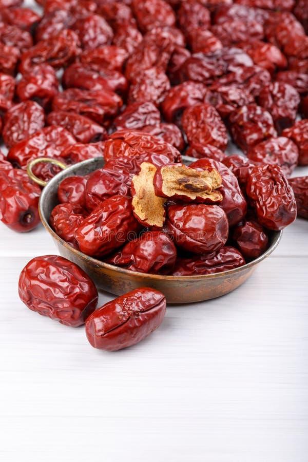 Frutti secchi della giuggiola, date rosse fotografia stock
