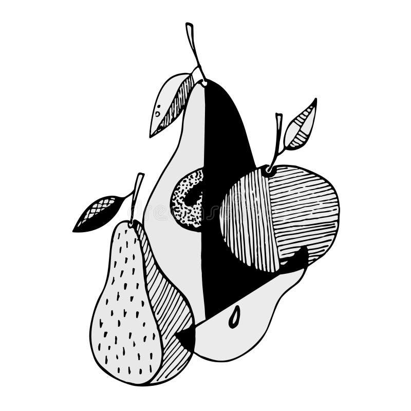 Frutti stilizzati dell'estratto fotografie stock libere da diritti