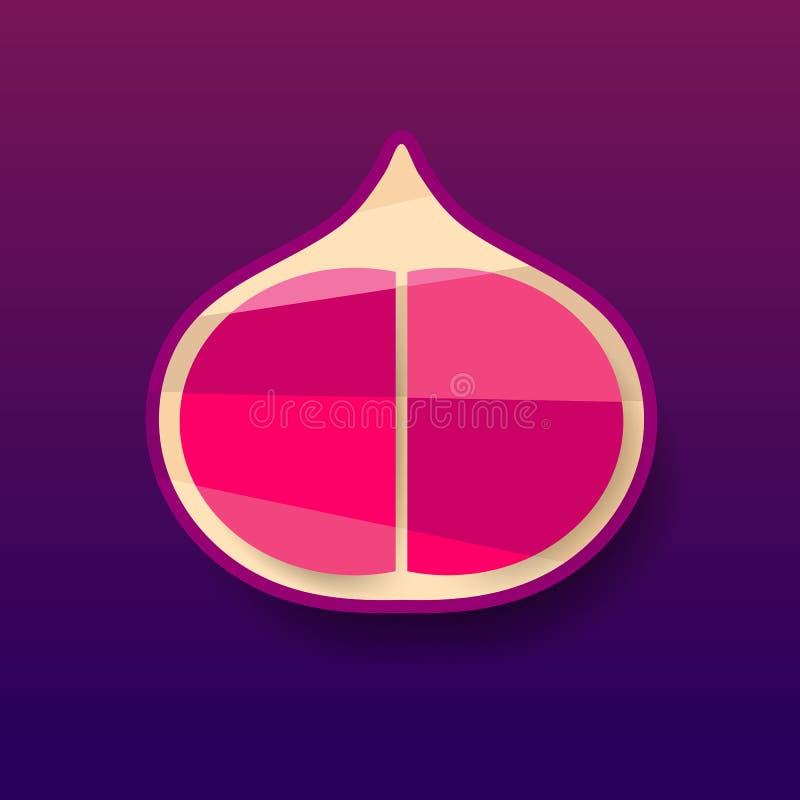 Frutti tropicali di estate per lo stile di vita sano Fico, intera frutta e mezzo porpora Illustrazione di vettore royalty illustrazione gratis