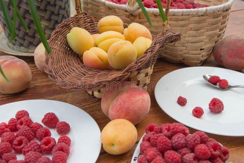 Fruttifica il fondo, vegetariano maturo o è a dieta l'alimento sano, gruppo di prodotti fotografia stock