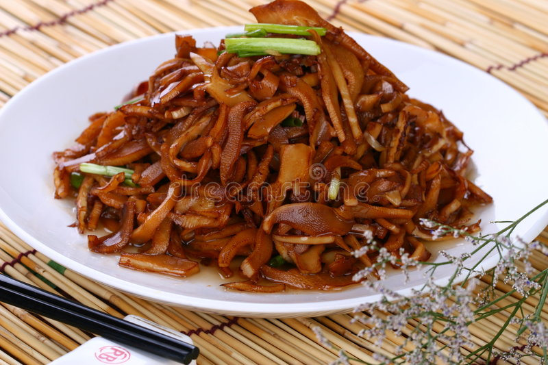 Fry asian food shrimp. Asian food. Stir fry of pork and vegetables stock images