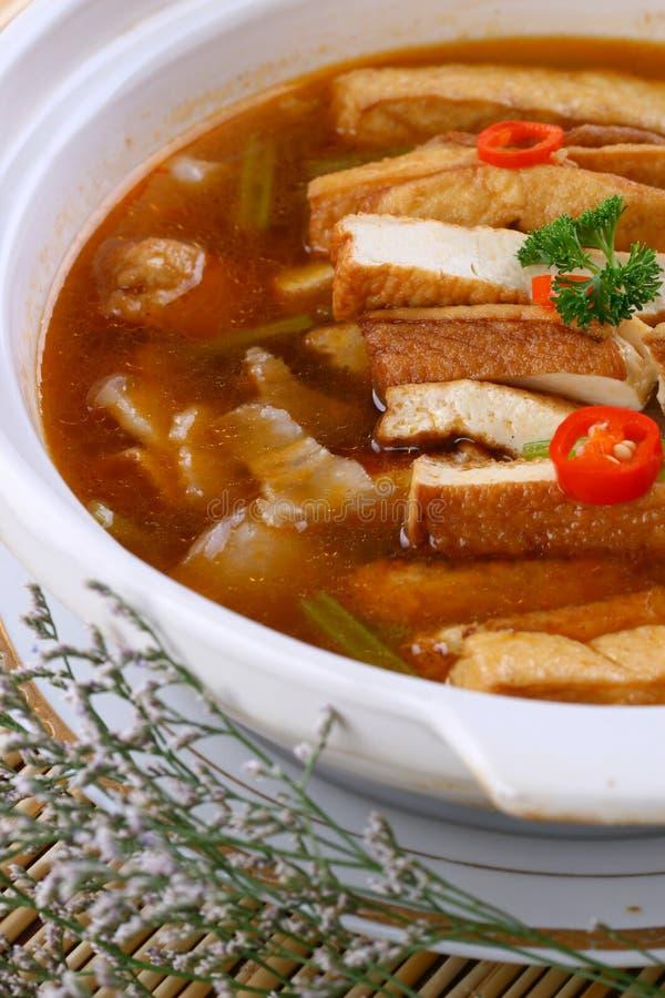 Fry asian food-tofu. Asian food. Stir fry of pork and vegetables stock photos