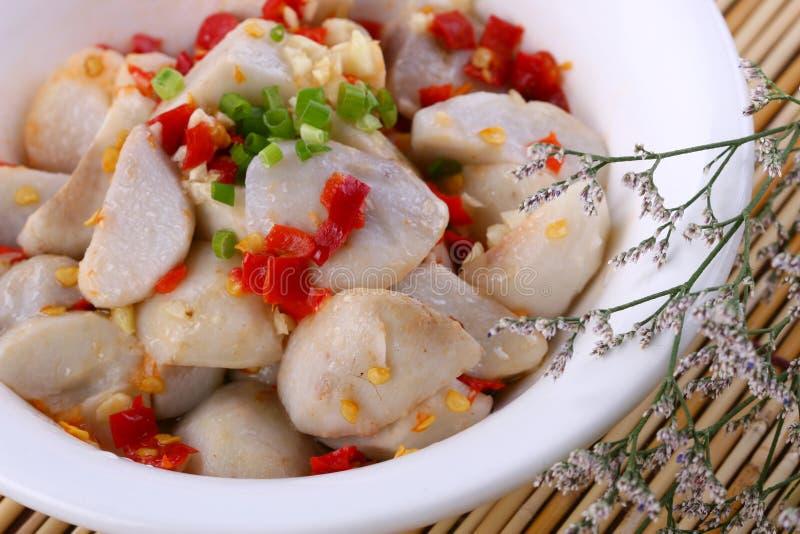 Fry asian food-yam stock photos