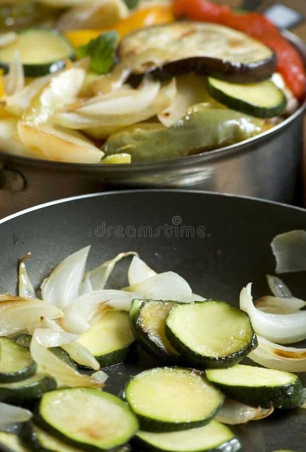 fry casserole cukinia fotografia stock