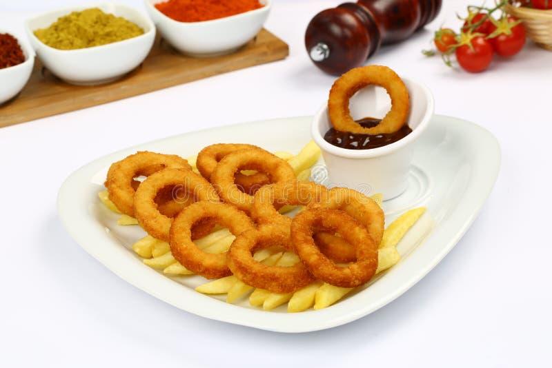fry cebulkowych pierścieni french zdjęcie stock