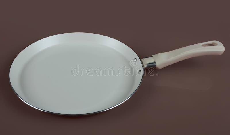 Fry pan for pancakes stock photo