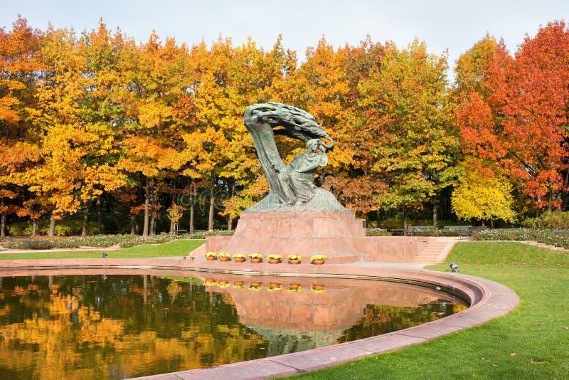 Fryderyk Chopin Statue en Varsovia imagenes de archivo