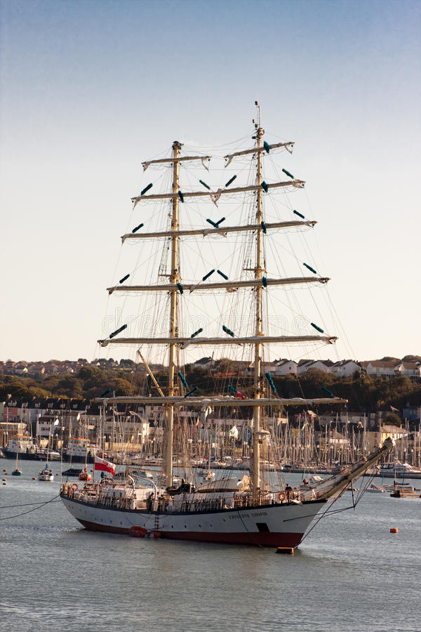 Fryderyk Chopin Tall Ship Rescued stock image
