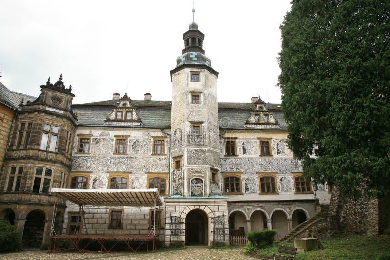 Frydlant castle in Czech Republic, Czechia. Frydlant, medieval fortress, castle in north of Czech Republic, Czechia stock photo