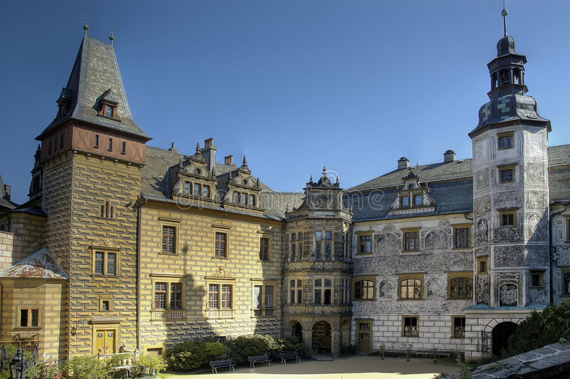 Frydlant - castle in north of Czech republic royalty free stock image