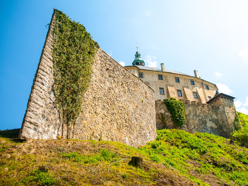 Frydlant Castle in Northern Bohemia. Frydlant v Cechach - Gothic castle and Renaissance chateau with massive fortification in northern Bohemia, Czech Republic royalty free stock image