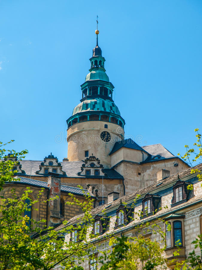 Frydlant Castle Tower. Beautiful tower of Frydlant Castle in Northern Bohemia, Czech Republic royalty free stock photo