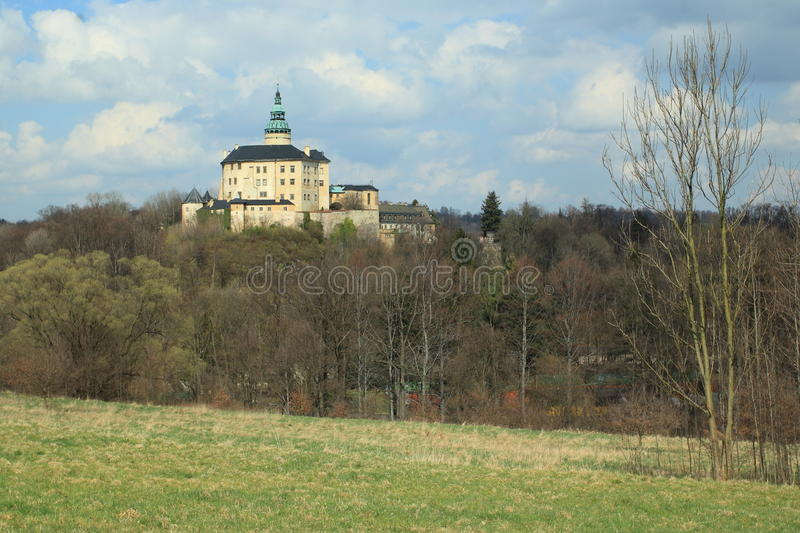 Frydlant chateau and castle. The gothic castle with the rennaisance chateau Frydlant situated in northern Bohemia, Czech Republic royalty free stock image