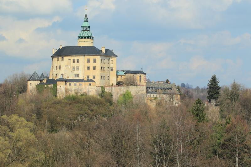 Frydlant chateau. The castle and chateau Frydlant situated in northern Bohemia, Czech Republic royalty free stock images