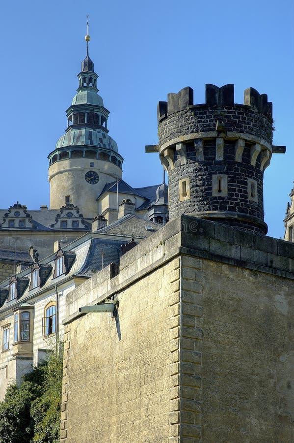 Frydlant - kasteel in het noorden van Tsjechische republiek stock afbeeldingen