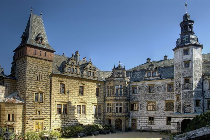Frydlant - kasteel in het noorden van Tsjechische republiek royalty-vrije stock afbeelding